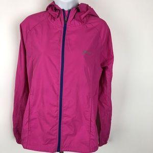 Asics Women's Hooded Zip Jacket Size S Pink DZ2